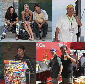 Lido Chilelli with Friends; Rico Ferrara on stage; Lido at Press Conference; Pat celebrates Victoria Day